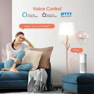 Image 4 - Lonsonho Tuya المكونات الذكية واي فاي المقبس نوع B الولايات المتحدة التوصيل 16A مراقبة الطاقة يعمل مع اليكسا جوجل المنزل مصغر