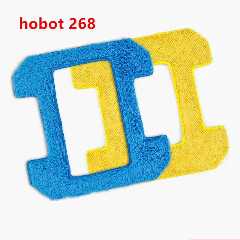 2pcs/lot 1pcs wet mop+1pcs dry mop for hobot 268 window clean mop cloth weeper glass windows microfiber cloth Cleaner Part 2pcs lot 1pcs nc3mxx