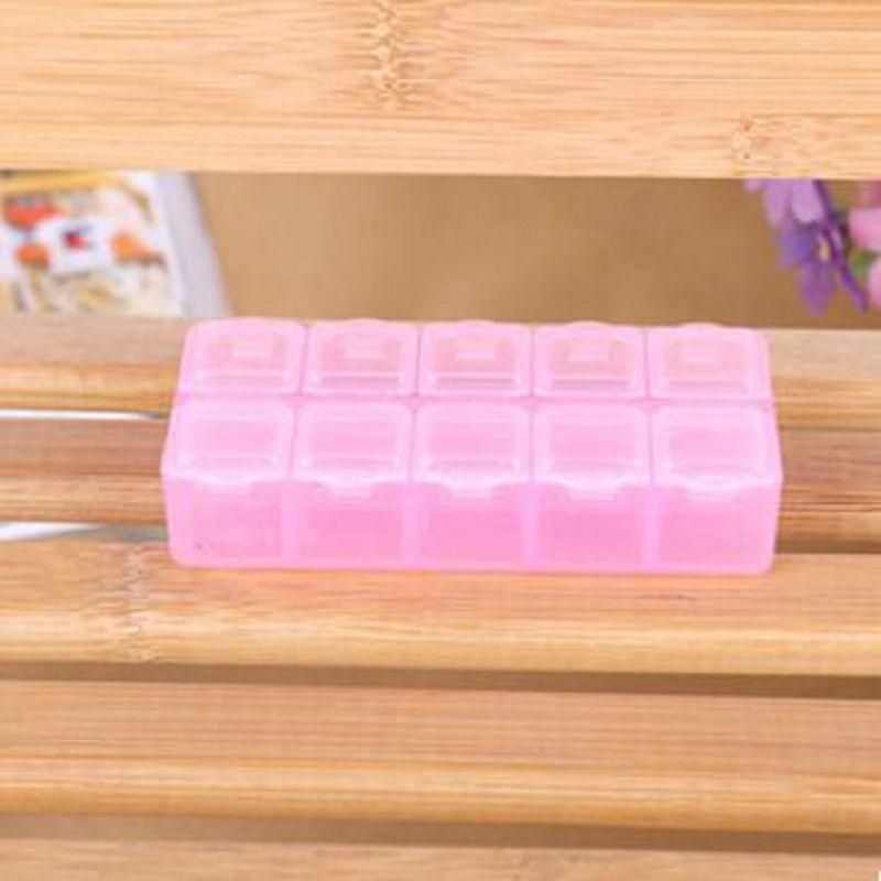 1 stuks 10 compartiment leeg plastic opbergdoos steentjes dired bloem - Home opslag en organisatie - Foto 5