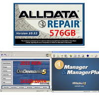 2019 Newest car repair software Alldata software 10.53 and mitchell ondemand auto repair data software in 1tb hdd harddisk data