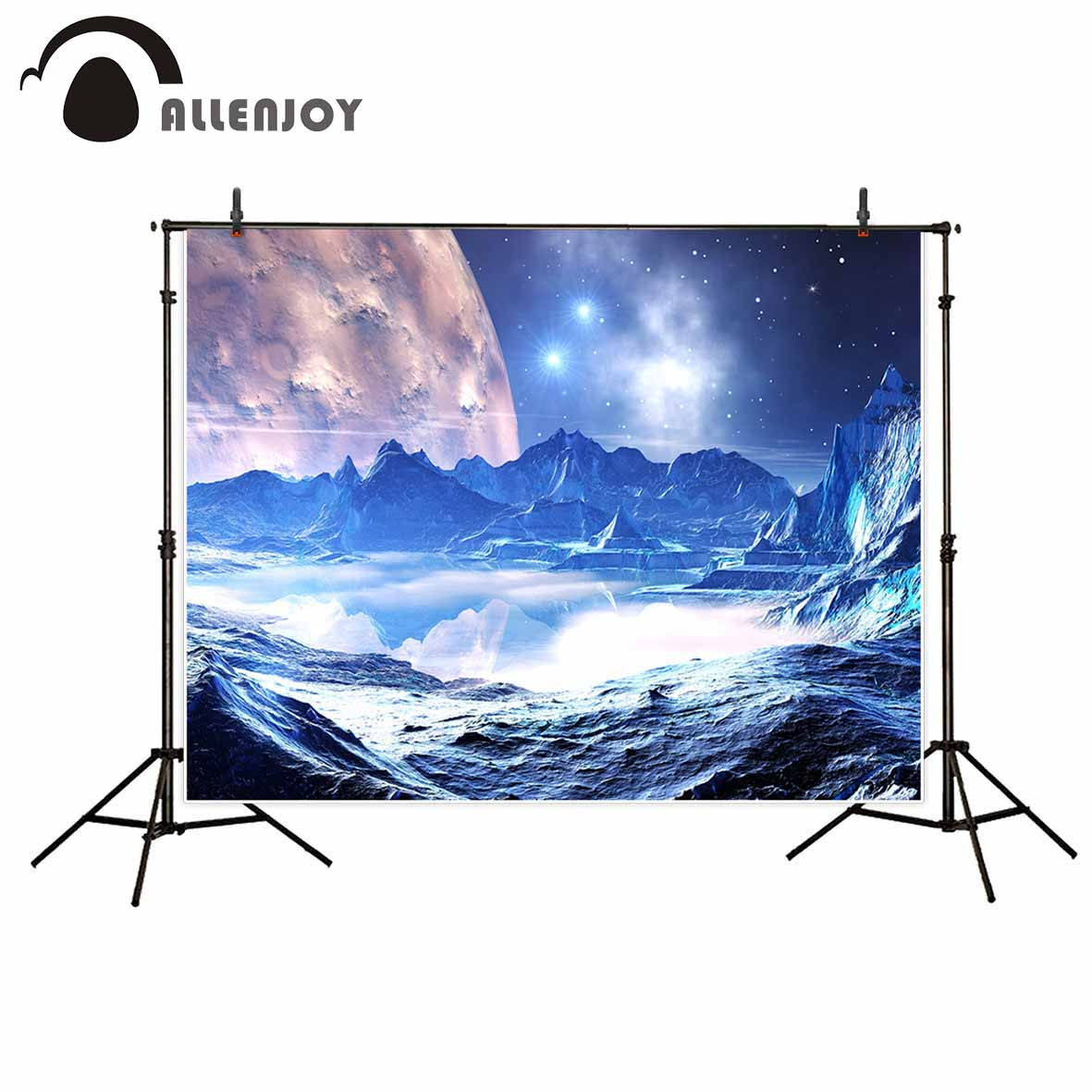 Allenjoy photography backdrops Space stars glitter planet Backgrounds for photographing fond studio photo