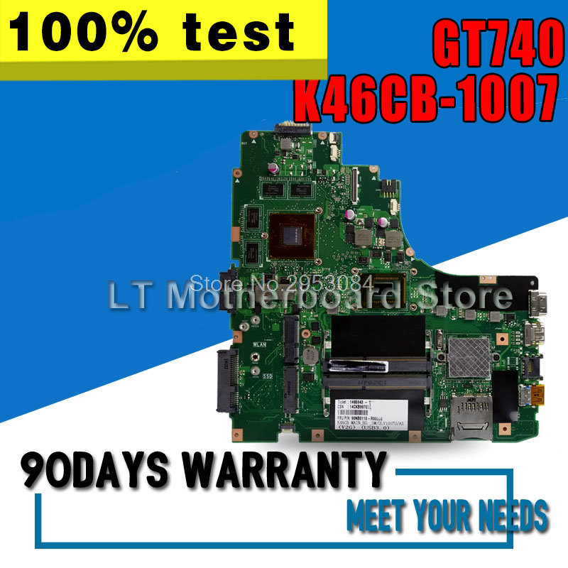 Laptop Motherboard For ASUS A46C S46C E46C K46CB 1007 GT740 System Board Main Board Card Logic Board Tested Well S-4Laptop Motherboard For ASUS A46C S46C E46C K46CB 1007 GT740 System Board Main Board Card Logic Board Tested Well S-4