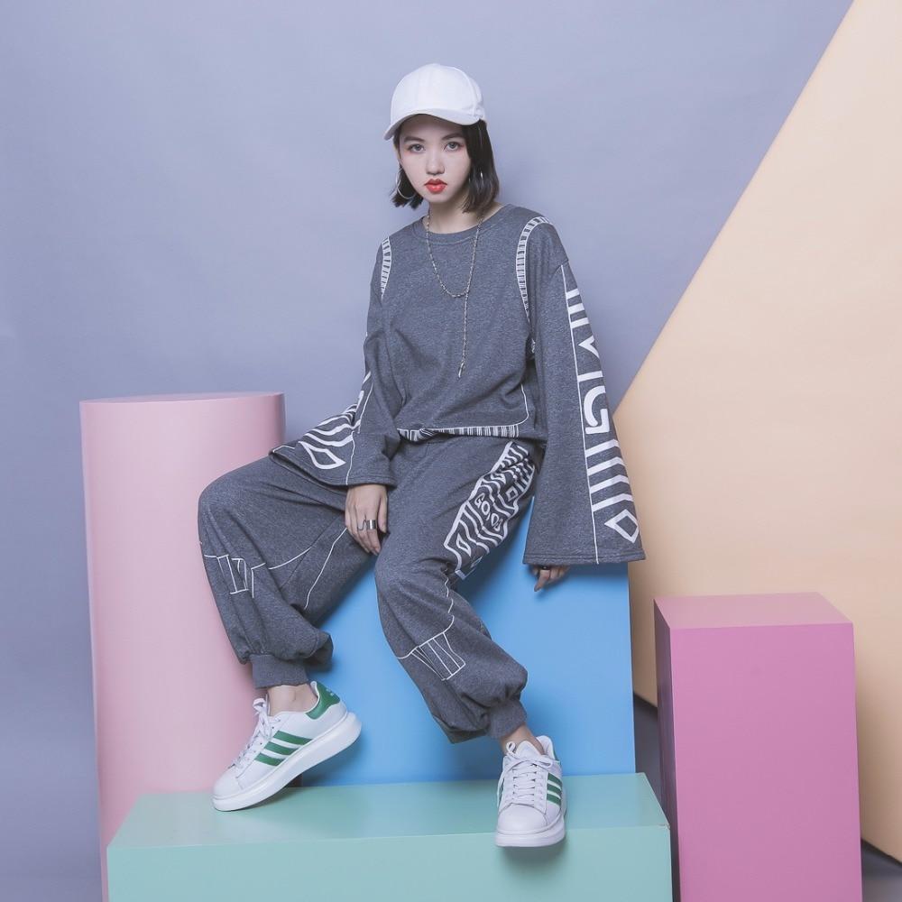 Flare Sleeve Designer Harajuku Women Sets 2 Piece Long Sleeve Large Loose Sweatshirt Harlan Pants Sweat