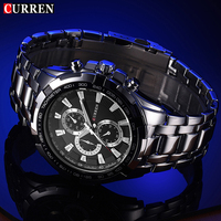 Curren 2017 Relogio Masculino Sports Military Mens Watches Top Brand Luxury Leather Quartz Watch Fashion Casual