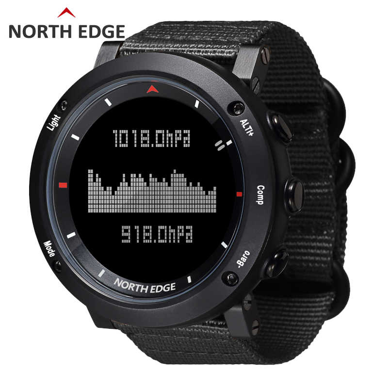 Relogio Masculino North Edge Men's Sport Smart Digital Army Militray Watches 5 ATM Waterproof fish thermometer climbing clock