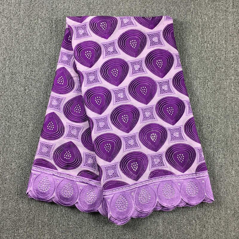 Высокое качество Африканский швейцарский хлопок вуаль кружева 041 сиреневый + фиолетовый, (5 метров/упаковка), 100% хлопок свадебные туфли в афр