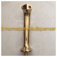 Cobra design high quality brass material PVD plated two way beer tower  with cooling lines(factory outlet)