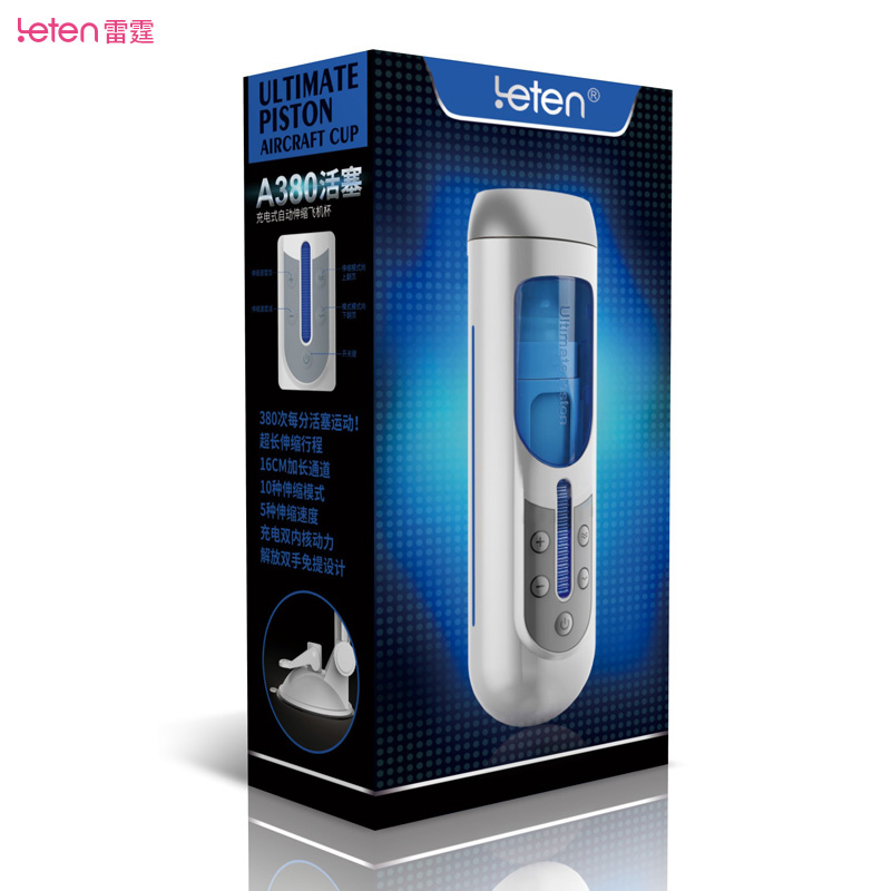 Brand <font><b>Leten</b></font> <font><b>A380</b></font> 10 Speeds Rectractable Masturbator Sex Machine For Men, Electric Automatic Sex Toys, Masturbador Sex Products image