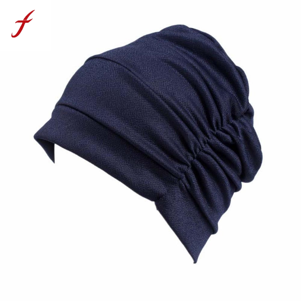 2017 New Fashion Women Cancer Chemo Hat Beanie Scarf Turban Head Wrap Cap Casual women's hats female cap new cotton slouchy wrinkle cap double flower floral beanie hats for cancer chemo patients