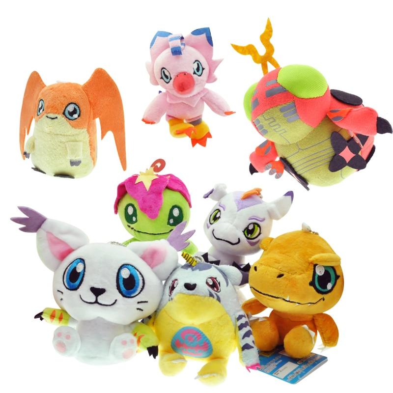 8 видов стилей Digimon Плюшевые 10 см Digimon Приключения плюшевые Игрушечные лошадки подвеска брелок Agumon palmon gomamon tailmon gabumon patamon piyomon
