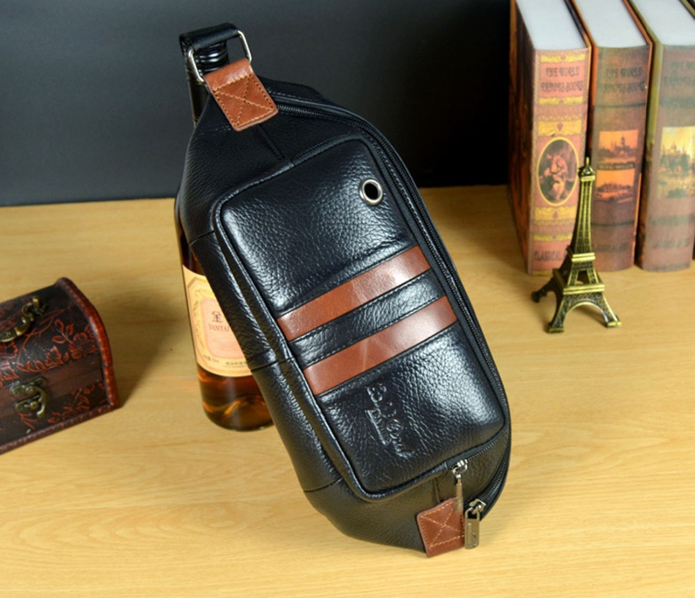 New Fashion Men Genuine Leather Travel Messenger Shoulder Sling Chest Hip Belt Bum Pouch Pack Waist Bag Purse fashion brand pu leather messenger bag famous brand women shoulder bag envelope women clutch bag small crossbody bag