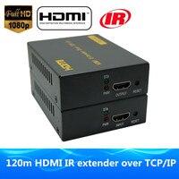 Better than LKV373 HDMI LAN extender 120m via UTP/STP CAT5e/6 Rj45 cable 1080p HDMI IR extender over TCP IP like hdmi splitter