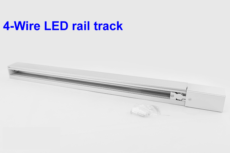 ФОТО 1 meter 4-Wire LED track rail,Track light rail connectors,four wires rail,Commercial track lighting fixtures