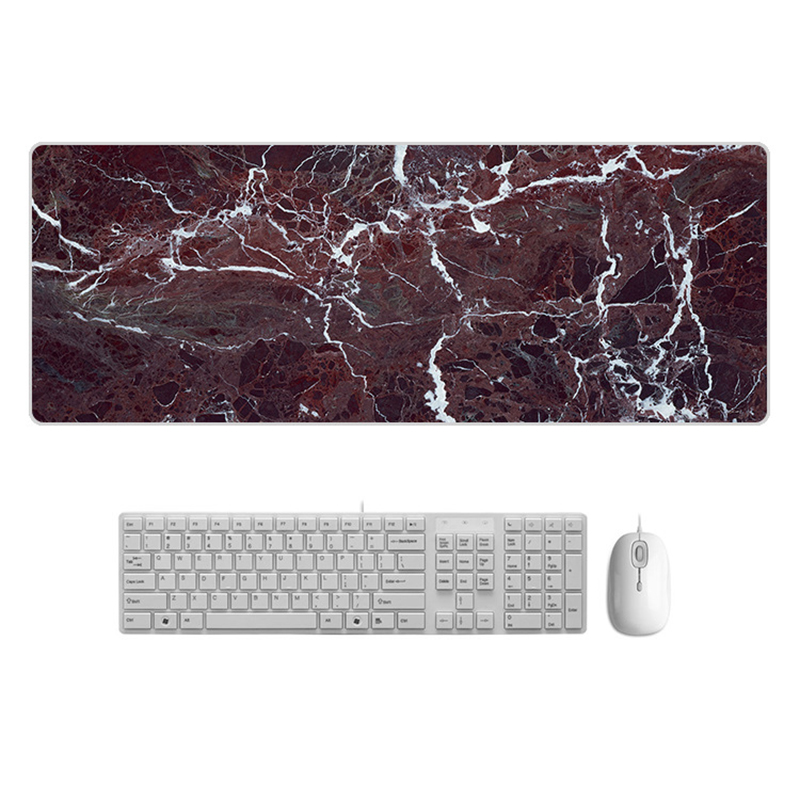 Large  Desk Pad Beautiful Soft Natural Rubber Pink Gold White marble Series Mice Pad Square Gaming Mouse Pad with Locking Edge (17)