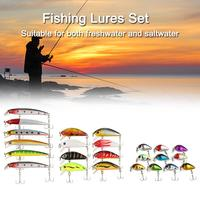 56PCS Fishing Lures Set Mixed Minnow lot lure Bait Crankbait Tackle Bass