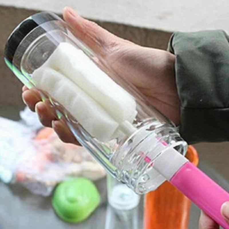 1 шт. губка детская молочная щетка для бутылочки для кормления кухонный очиститель инструмент Детские аксессуары для чистки сосков скребок для бокалов щетки для мытья