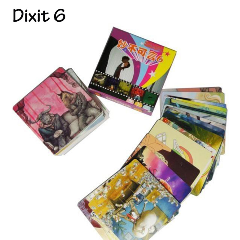 Dixit 6 Board Game Card Game 6 Edition Kid's Board Game Educational Toy Small Package With Free Shipping