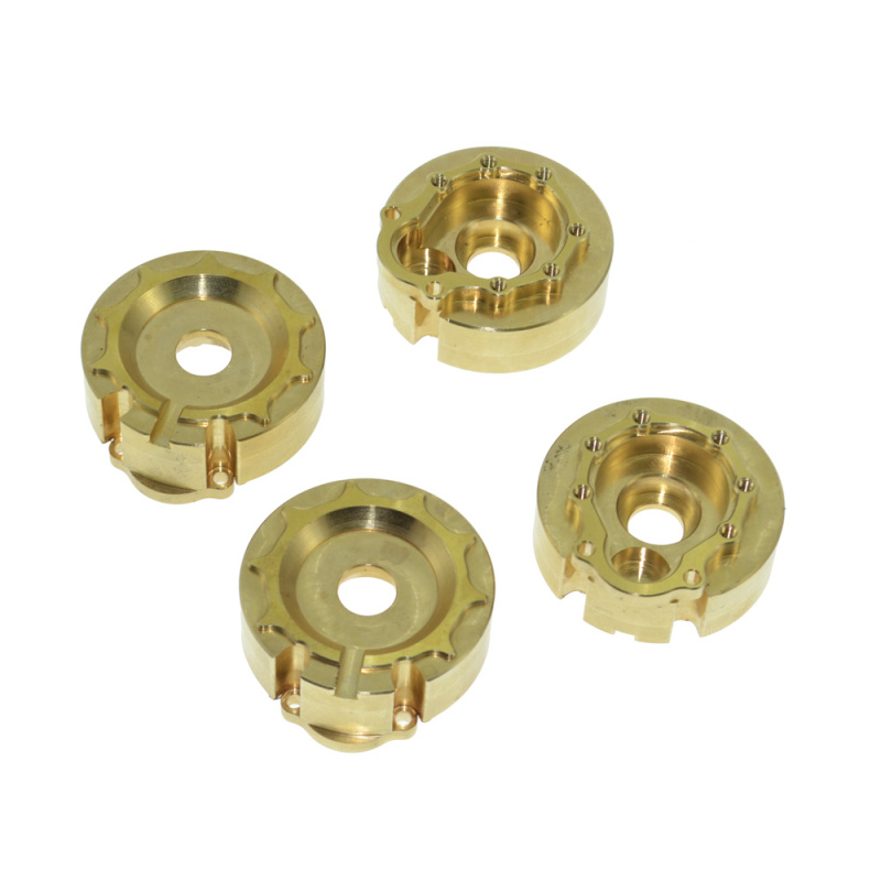 4PCS RC Brass Counterweight Steering Block Wheel Knuckle Axle Balance Weight for 1/10 RC Traxxas TRX4 Trail Crawler parts promax driven wheel block for gy6 150cc scooters atvs go karts moped quads 4 wheeler dune buggys
