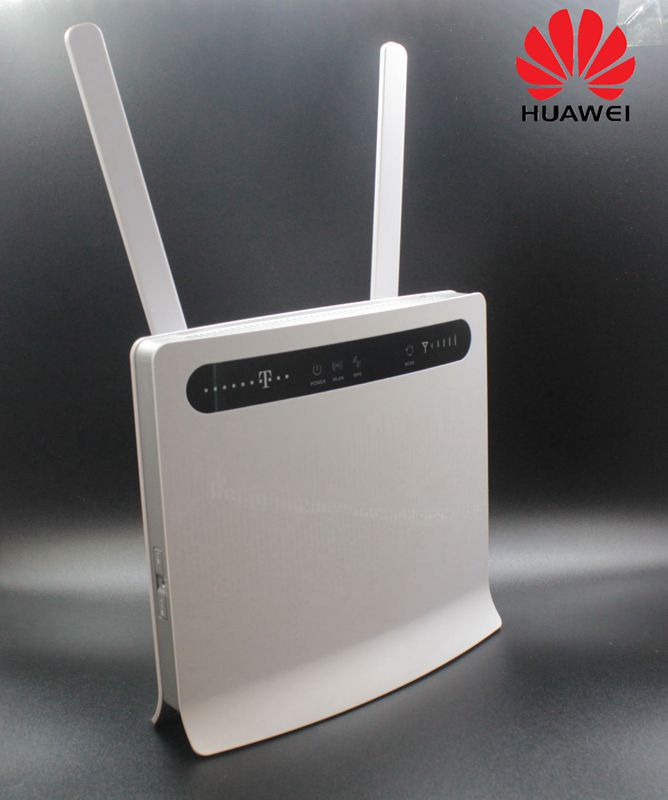 Unlocked Huawei B593 B593u-12 Plus Antenna 4G LTE 100Mbps CPE Router with Sim Card Slot 4G LTE Router with 4 Lan Port PK B310