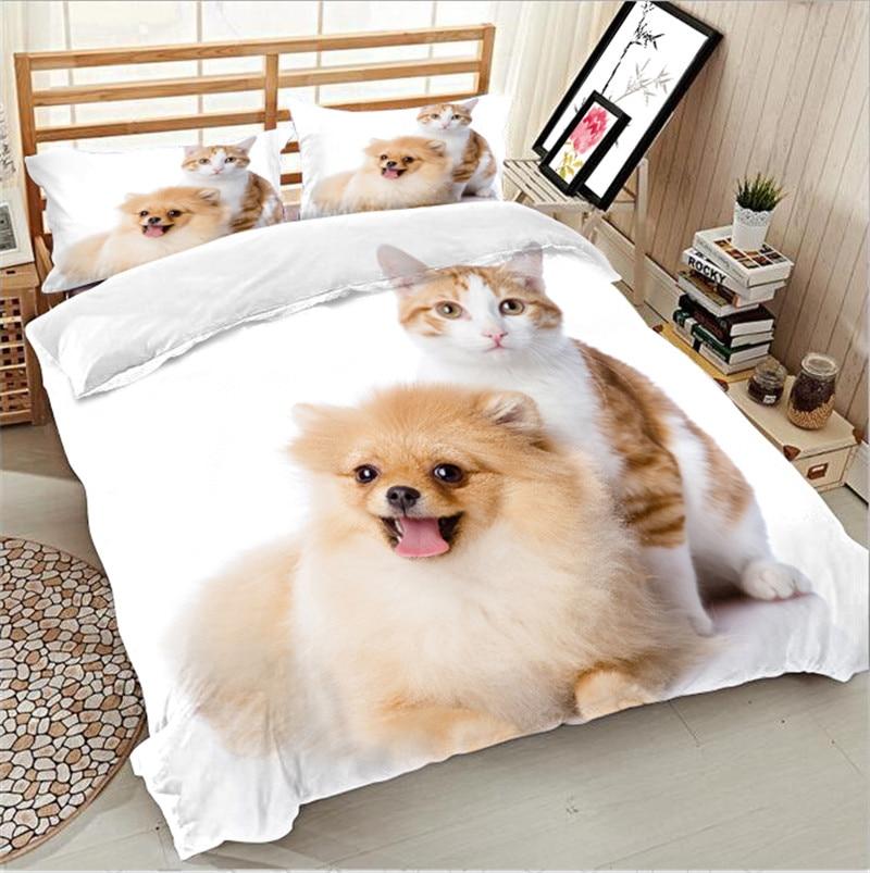 3D Golden Retriever bedding bed sheet set bedclothes Super king duvet cover sets bedding set