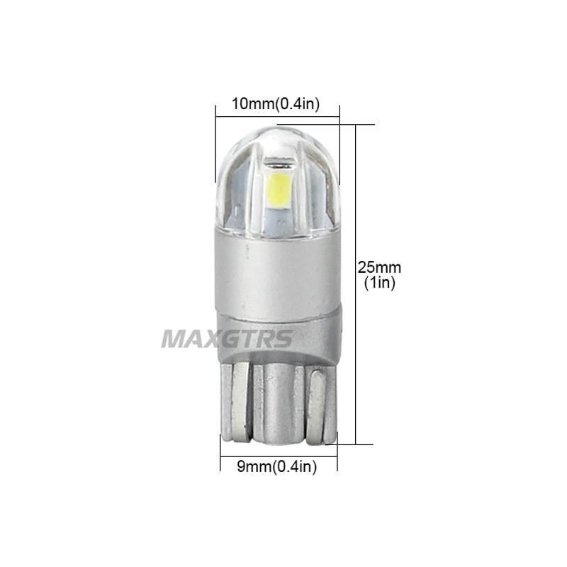 2x T10 168 194 W5W CREE çip dəyişdirmə lampaları üçün - Avtomobil işıqları - Fotoqrafiya 3