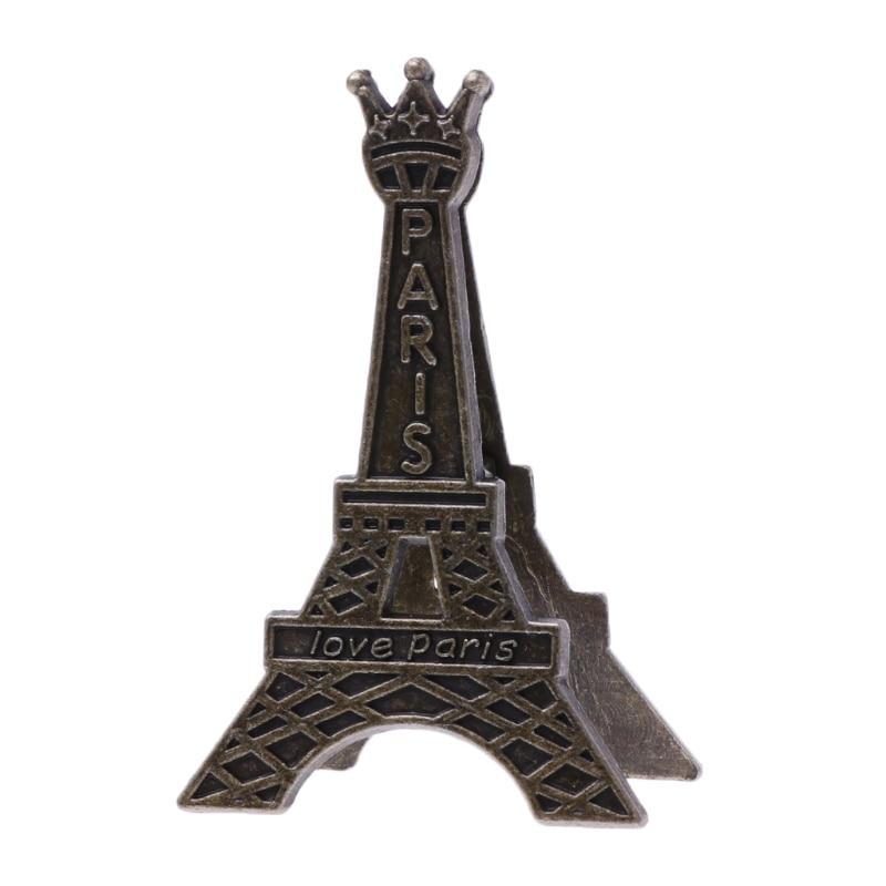 Vintage Eiffel Tower Paris Metal Memo Paper Clip For Message Decoration Photo