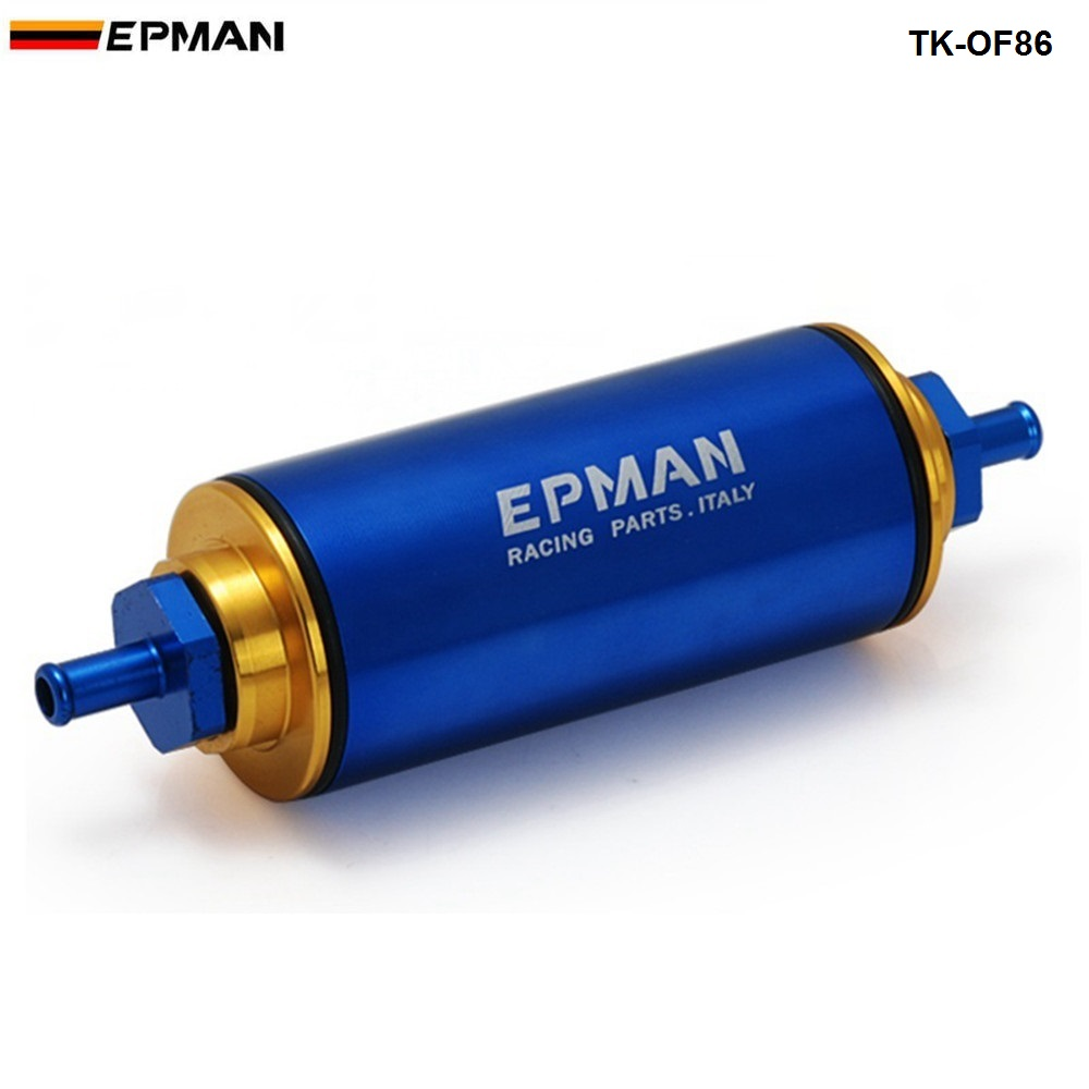 Racing High Flow Washable Fuel Filter 8.6MM With Stainless Steel SS Element  For 96-00 Honda Civic Ek Jdm TK-OF86-BK