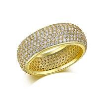 Anillos de Oro 585 Plateó Circón Joyería de lujo Anillos de Boda Para Las Mujeres Anel Masculino Aros Vintage Anéis Bijoux Bague QQ195