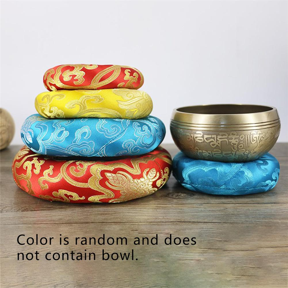 Tibetan Singing Bowl Mat Himalayan Hand Hammered Chakra Meditation Religion Belief Buddhist Supplies Home Decoration S2