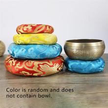 Tibetan Singing Bowl Mat Himalayan Hand Hammered Chakra Meditation Religion Belief Buddhist Supplies Home Decoration S2