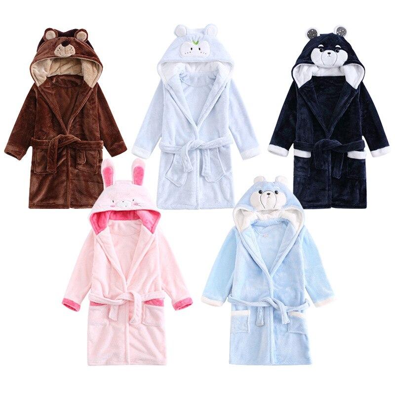 0040e3e091 Hot Sale Kids Bathrobe Soft Flannel Pajamas for Baby Boy New 2019 Children  Warm Homewear Robes