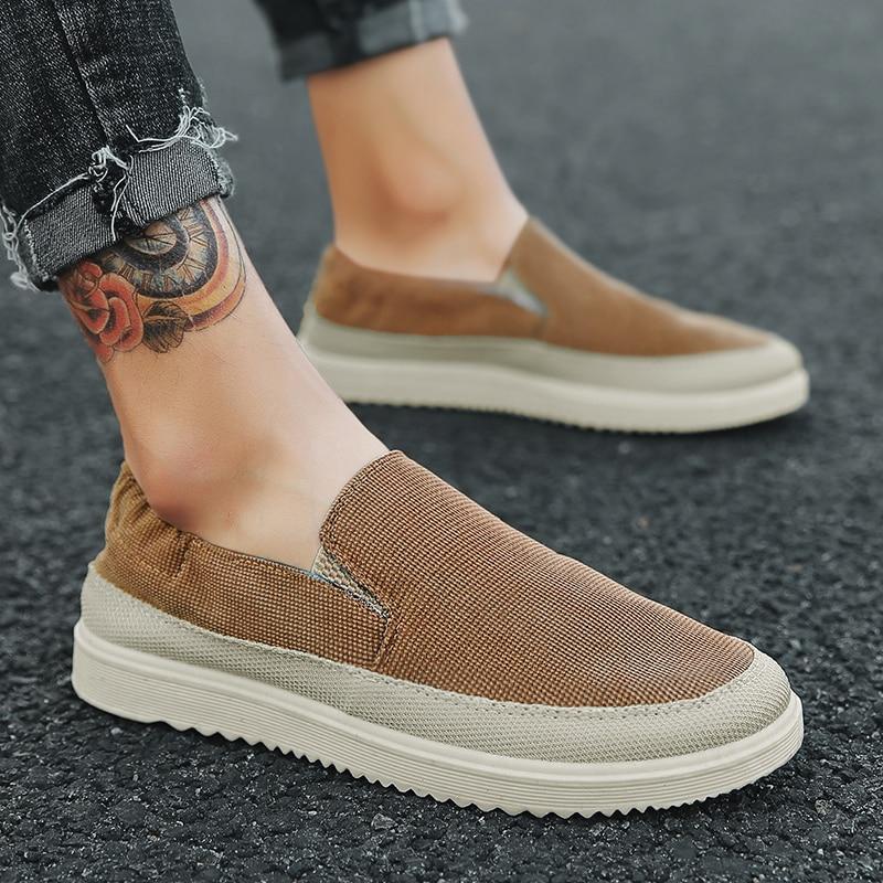 2018 Fashion men spring autumn canvas shoes trend comfortable men's flats casual shoes ZD928