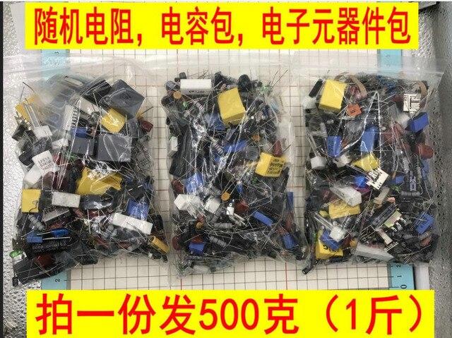 500 gram một gói có điện trở Tụ LED triode đèn LED điện tử thành phần linh kiện đi lạc gói, ngẫu nhiên mẫu experime