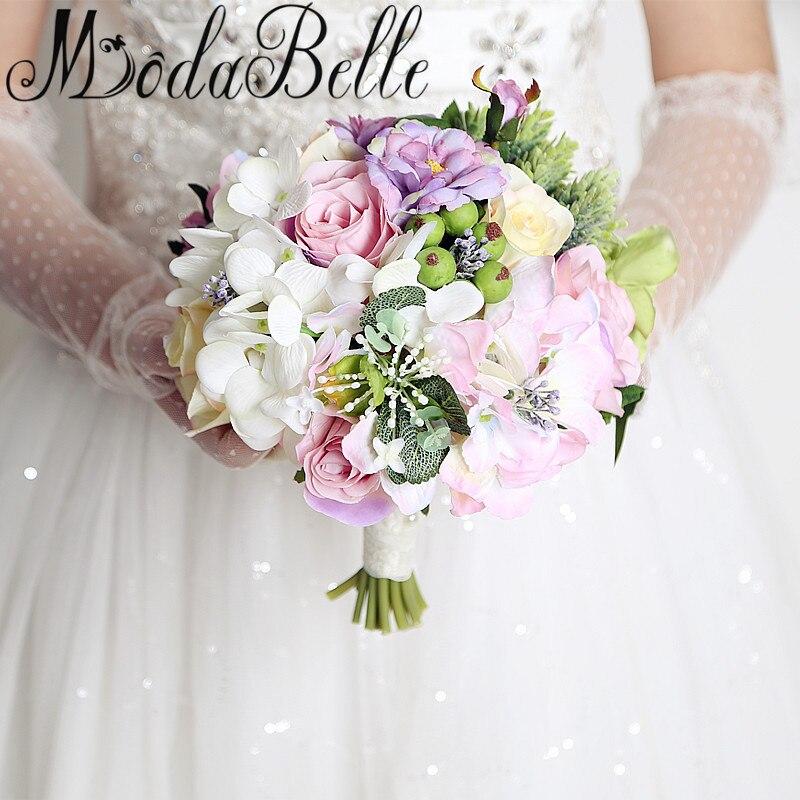 modabelle estilo occidental de dama de honor ramo de flores fuera de la boda flores ramos