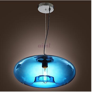Pendant Light Modern Design Blue/Amber/Gray Glass Bulb Included 110/220V free shopping pendant lamp игрушка ecx ruckus gray blue ecx00013t1