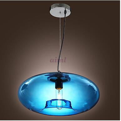 Pendant Light Modern Design Blue/Amber/Gray Glass Bulb Included 110/220V free shopping p ...