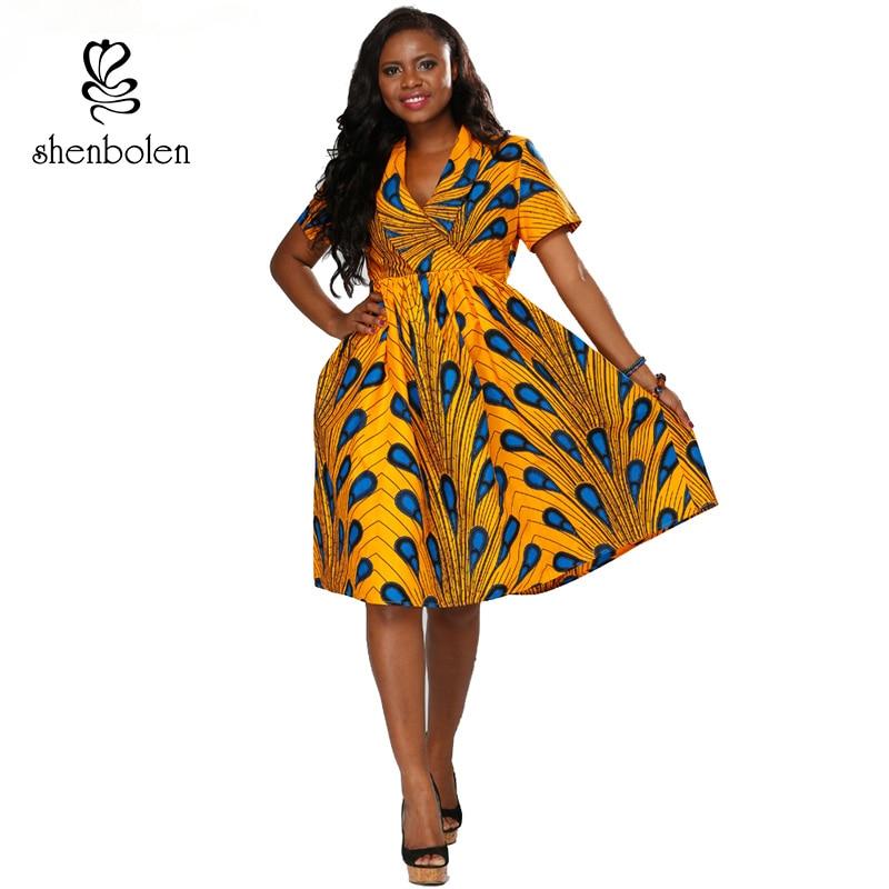 African Women Fashion: Shenbolen African Dresses For Women 2018 Summer Ankara