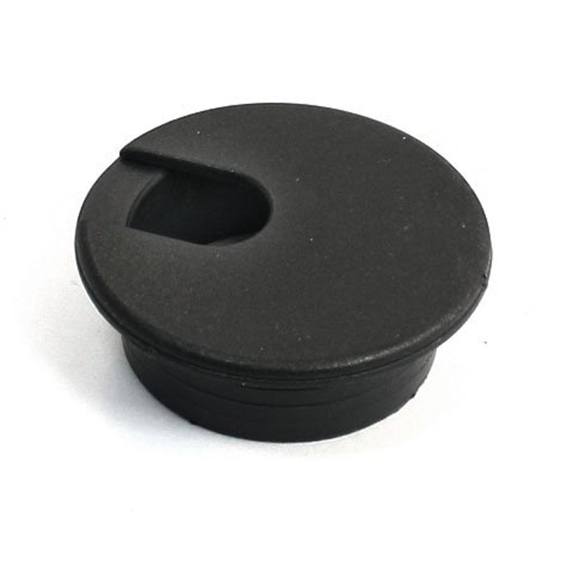 Black Round Plastic Computer Desk Cable Grommet Hole Cover 35mm 8Pcs metal grommet cable hole cover outlet holder silver tone for computer desk table tool