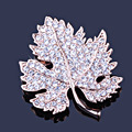 FARLENA Jewelry Gold & Silver Plated Full Rhinestone Exquisite maple leaf brooch Fashion Scarf pins Brooches for Women