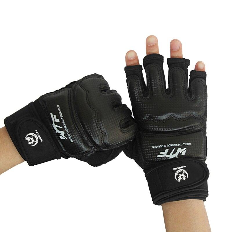 New Kick Boxing Gloves MMA Gloves Muay Thai Training Gloves MMA Boxer Fight Boxing Equipment Half Mitts PU Leather Black gloves boxing gloves bessky® cool mma muay thai training punching bag half mitts sparring boxing gloves gym
