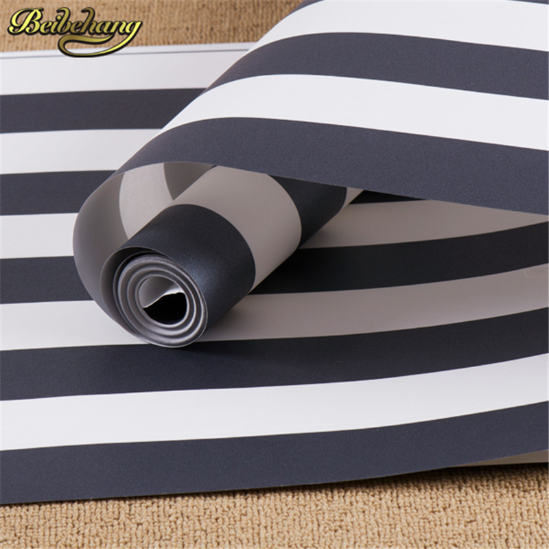 ФОТО beibehang wall paper High Quality Black and white striped for walls modern tapete papel de parede roll for living room bedding