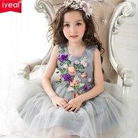 Princess Kids Dresses For Girls Clothes 2017 Brand Summer Girl Dress With 3D Rose Floral Flower