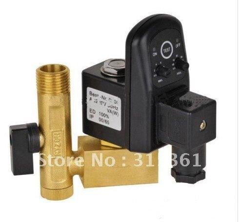 Высокое качество 5 шт. в партии 1/2 ''Электрический сливной клапан с таймером и латунная Трубная арматура 24-230 В EDV-15 с трубкой