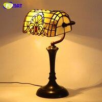 Фумат Тиффани барокко Европейский Винтаж настольная лампа Американский Стиль светодиодные настольные лампы для Гостиная прикроватные дим