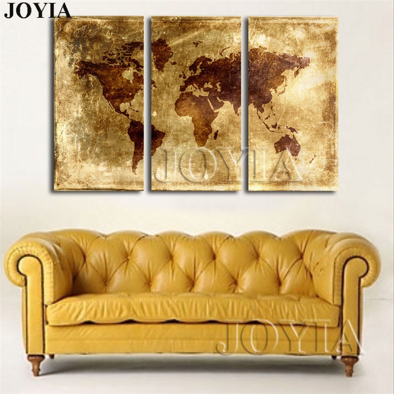 Large abstract world maps canvas art print golden metallic earth large abstract world maps canvas art print golden metallic earth scratch map poster pictures for wall hang decor with no frames in painting calligraphy gumiabroncs Choice Image