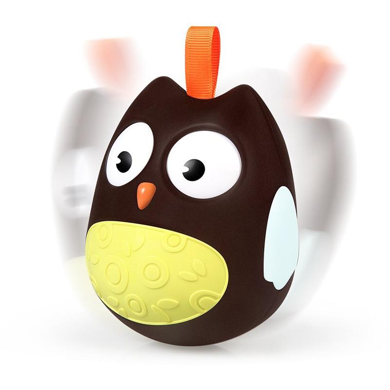 OnnPnnQ Cute Baby Toy Nodding Moving Eyes Owl Doll Baby Rattles - Խաղալիքներ նորածինների համար - Լուսանկար 1