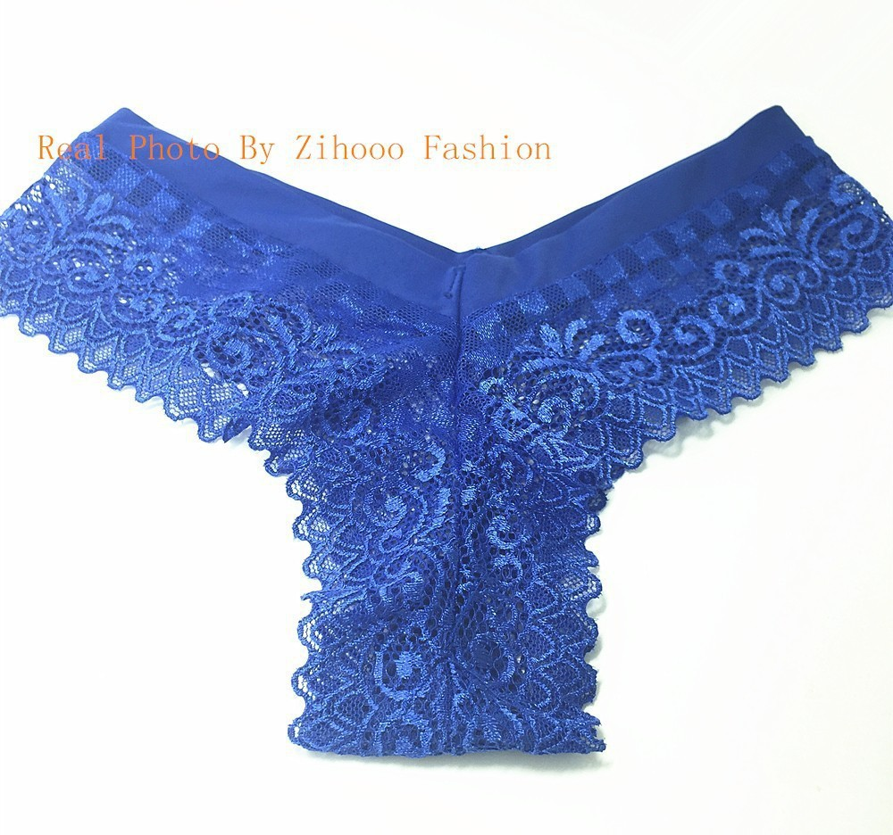 Cotton Sexy Panty Lace Underwear Women's Thong Panties Low Rise Briefs Cheekies Tangas Femininas Calcinha Fio Dental 04