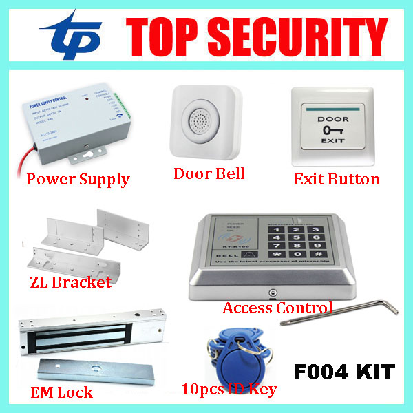 Free shipping good quality door access control system with door lock, DIY smart 125KHZ RFID card proximity EM access controller 125khz proximity card rfid access control system rfid em keypad card access control rfid door opener