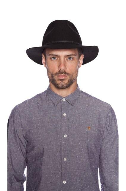 100% Pure Wool Vintage Men Women Fedora Hats black Floppy Jazz Bowknot Felt  Sun hat laday Panama Wide Hat Brim Gangster Cap 10 7edc9aa250f
