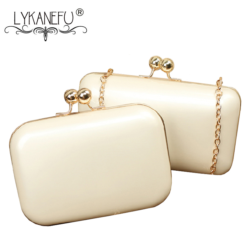 LYKANEFU Candy Color Box Women Evening Bags Frame Ladies Day Clutches Chain Shoulder Hand Bags For Party Wedding Purse Big/Small